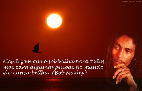 bob marley por do sol