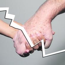 Mãos cortadas - Laços cortados
