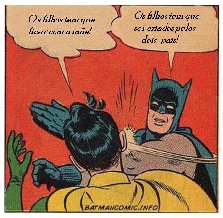 Batman ensinando o Robin