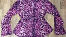 blusa de onça roxa